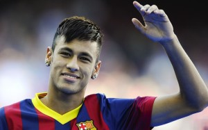Neymar Barcelona waving wallpaper