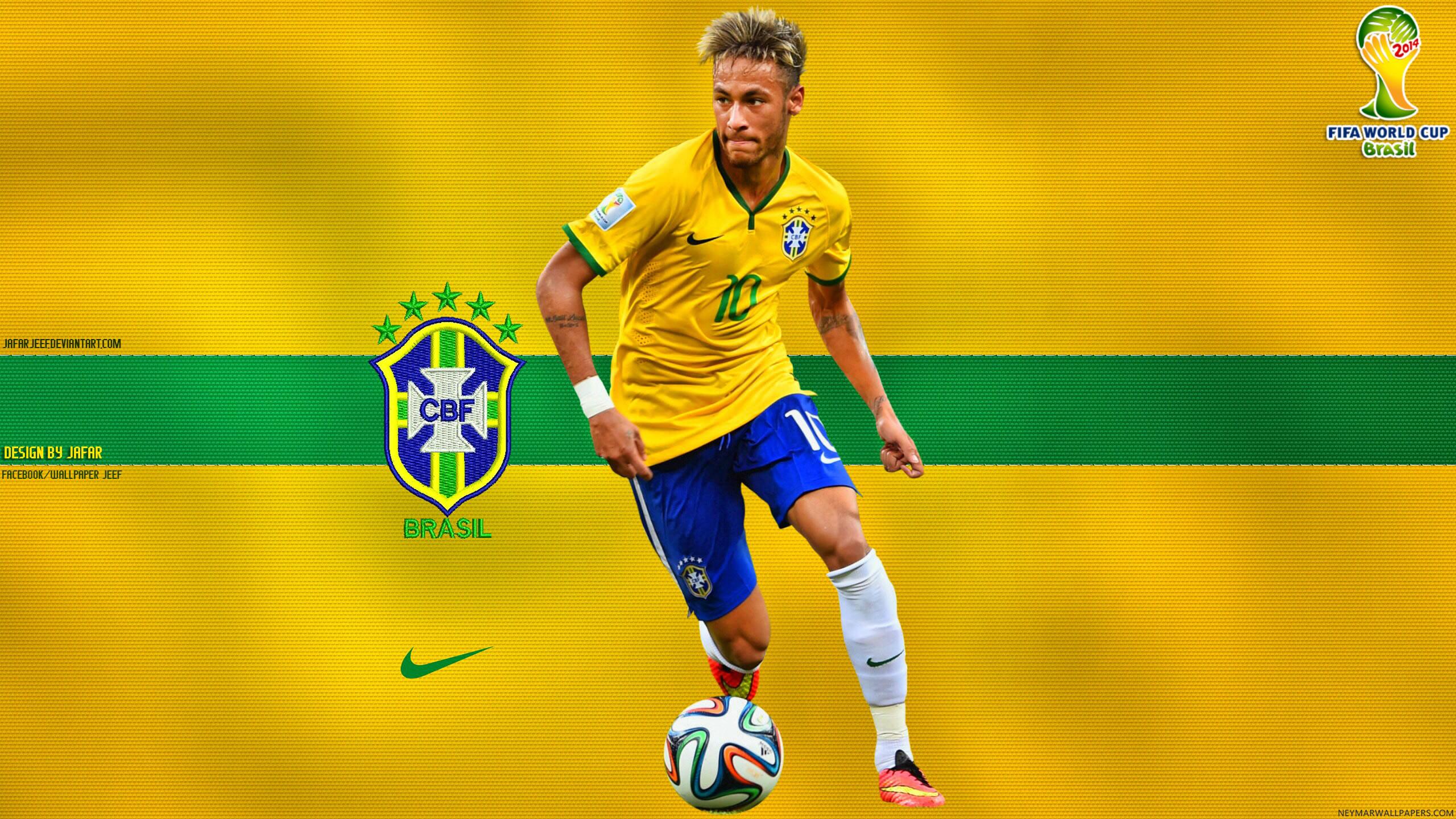 Neymar Brazil 2014 World Cup wallpaper by Jafar