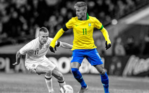 Neymar Brazil action wallpaper