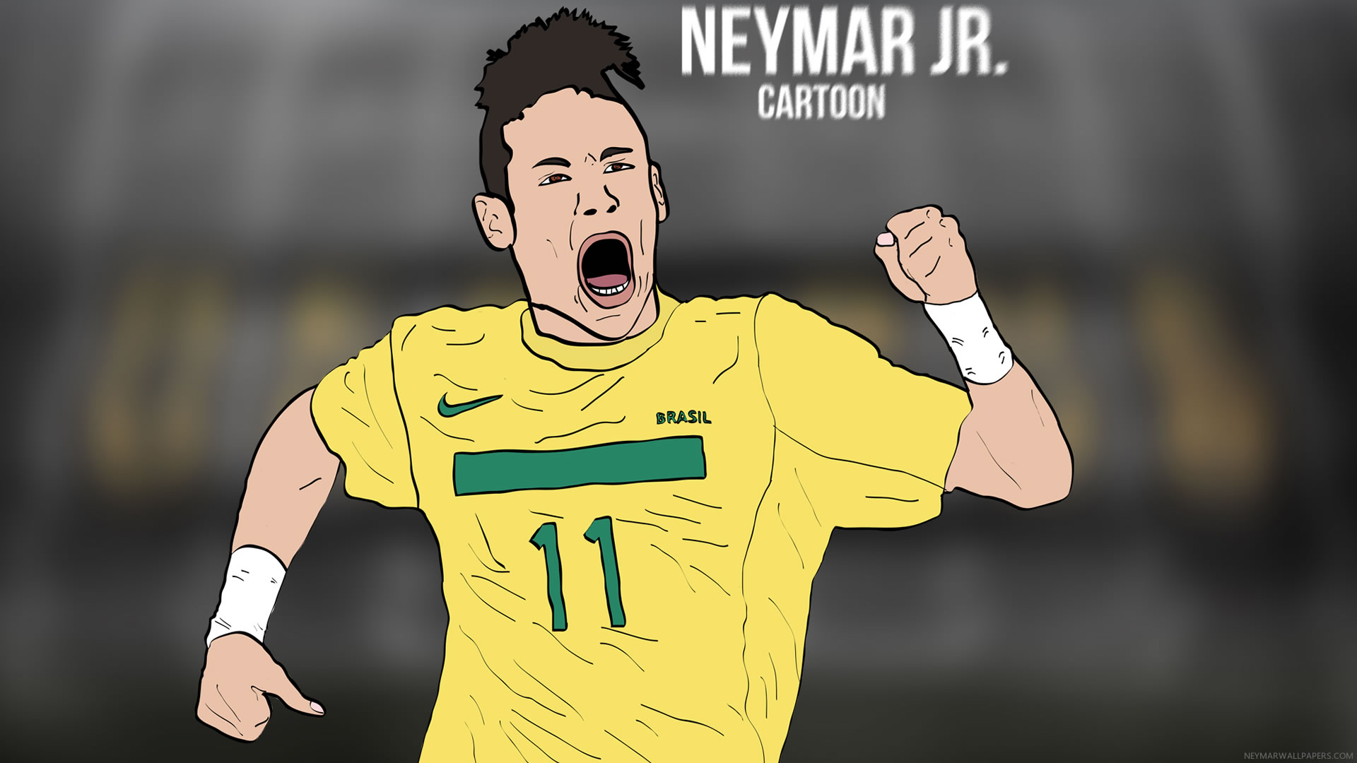 Neymar Jr Cartoon Wallpaper By Bluezest1997 Neymar Wallpapers