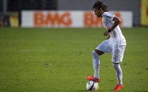 Neymar in Santos white jersey wallpaper
