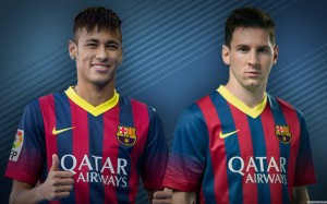 Neymar and Messi wallpaper (2)