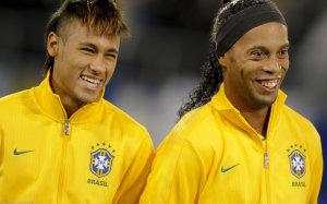 Neymar and Ronaldinho