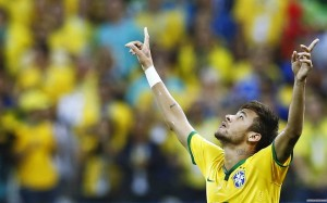 Neymar arms up wallpaper