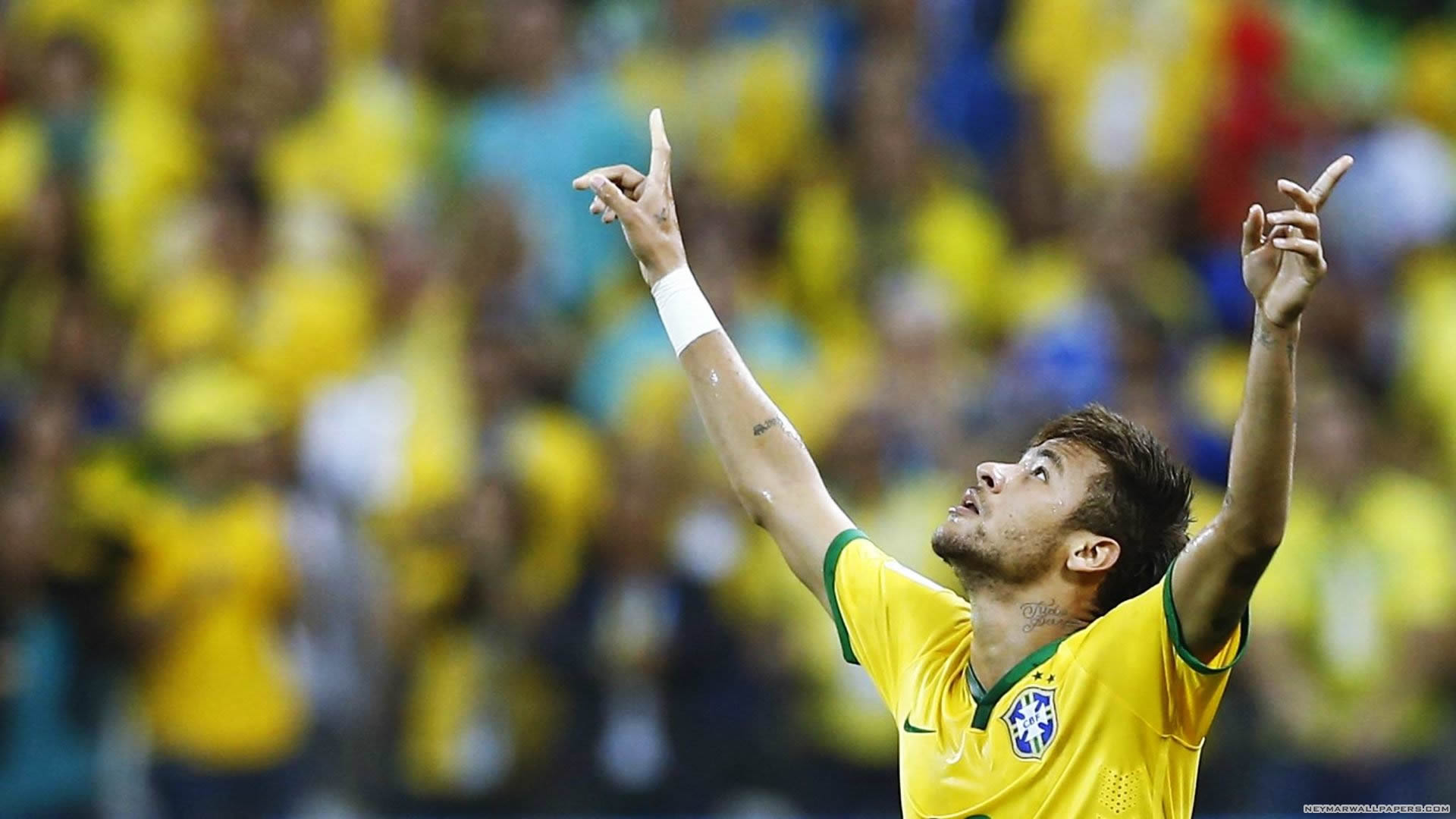 Hd wallpaper neymar - Neymar Arms Up Wallpaper