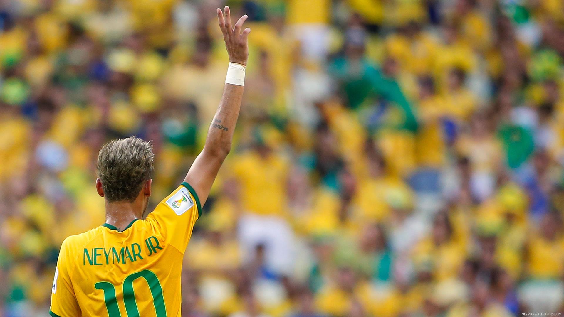 Neymar's back wallpaper