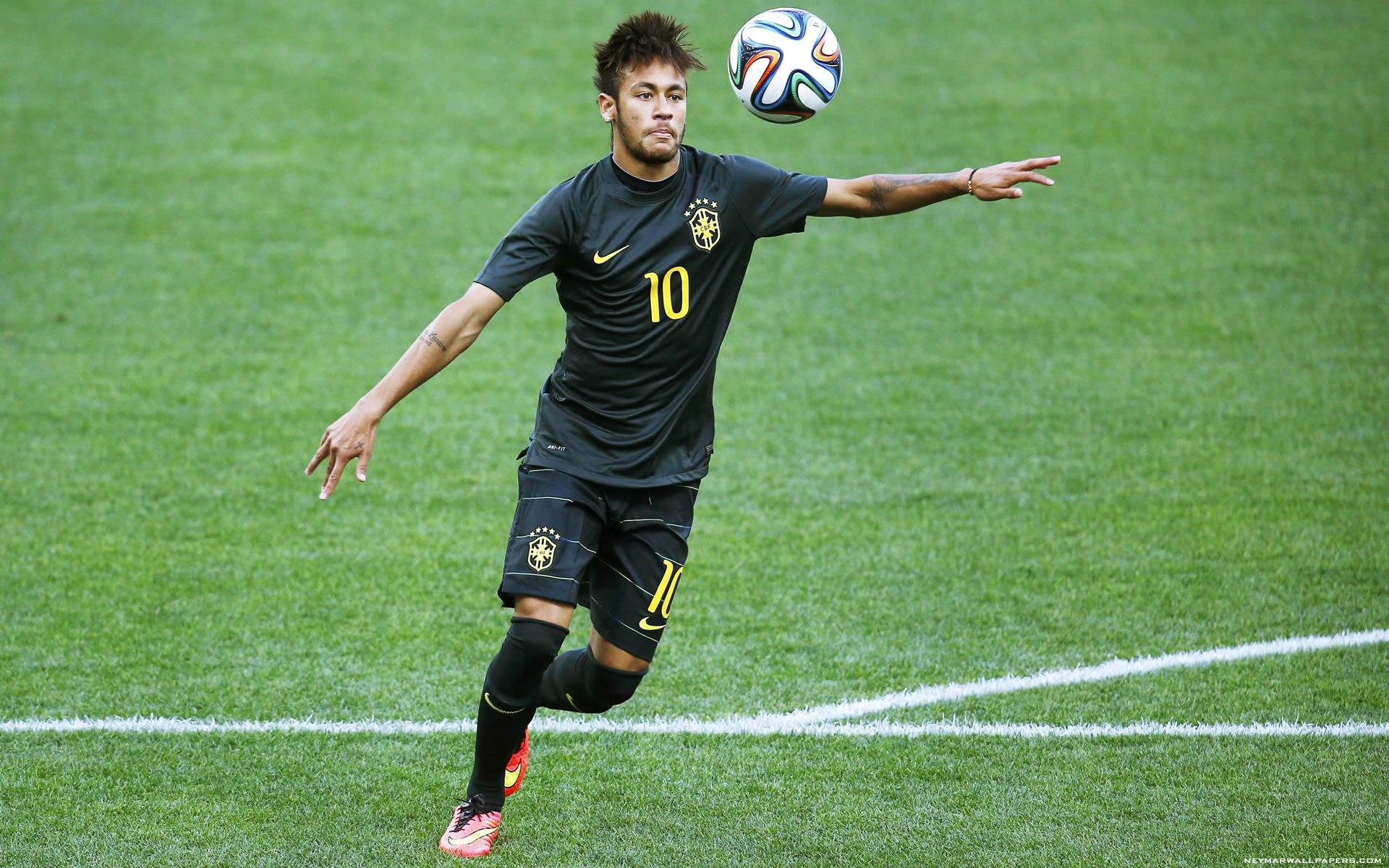 Neymar black Brazil jersey wallpaper