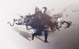 Neymar in black wallpaper