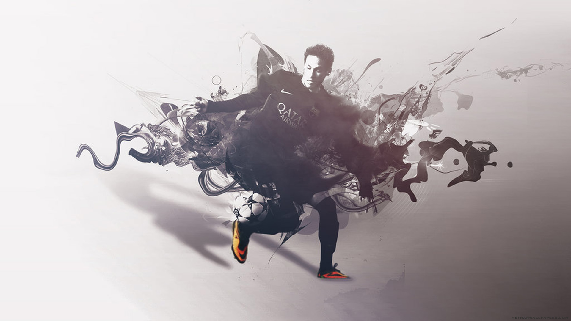 Neymar in black wallpaper