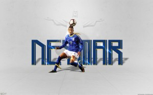 Neymar blue Brazil jersey wallpaper