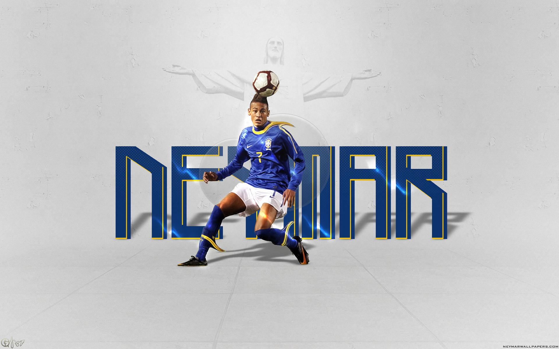 Neymar blue Brazil jersey wallpaper