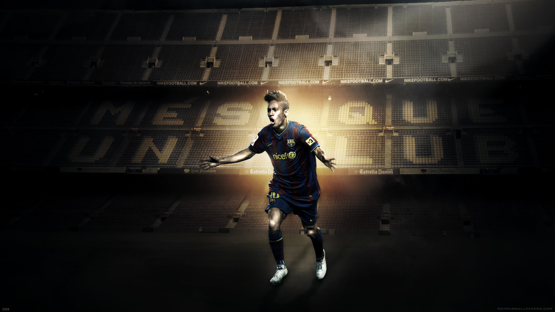 Neymar celebrating wallpaper