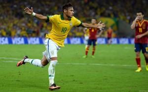 Neymar celebratory run wallpaper