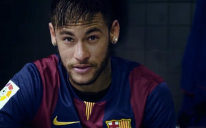 Neymar head in Barcelona jersey