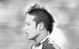 Neymar head sketch wallpaper