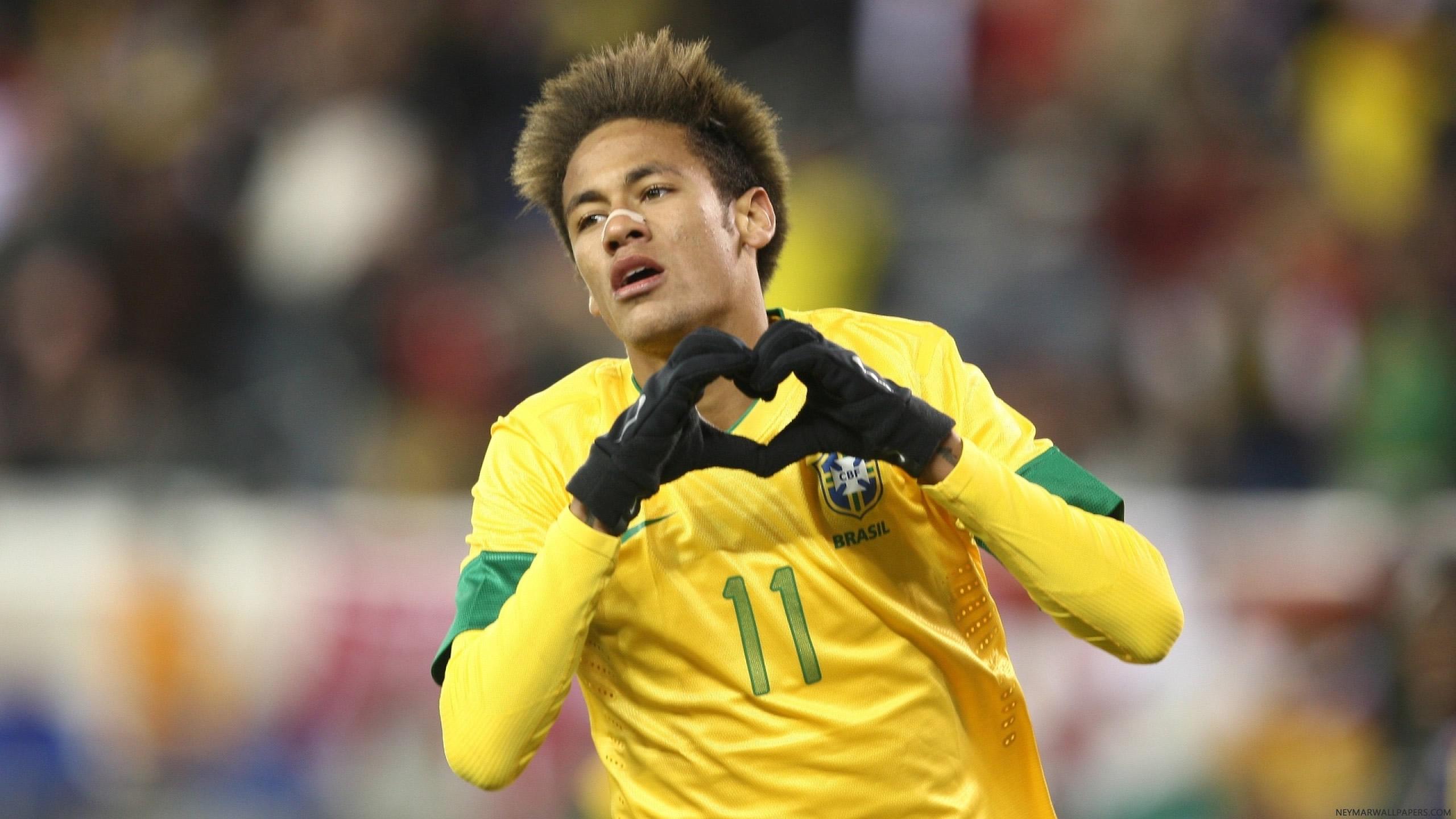 Neymar heart wallpaper