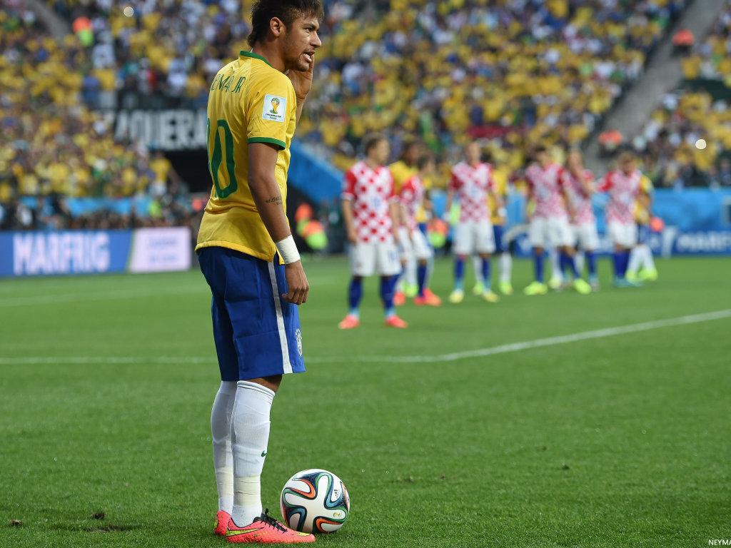 neymar in brazil vs croatia world cup 2014 neymar wallpapers