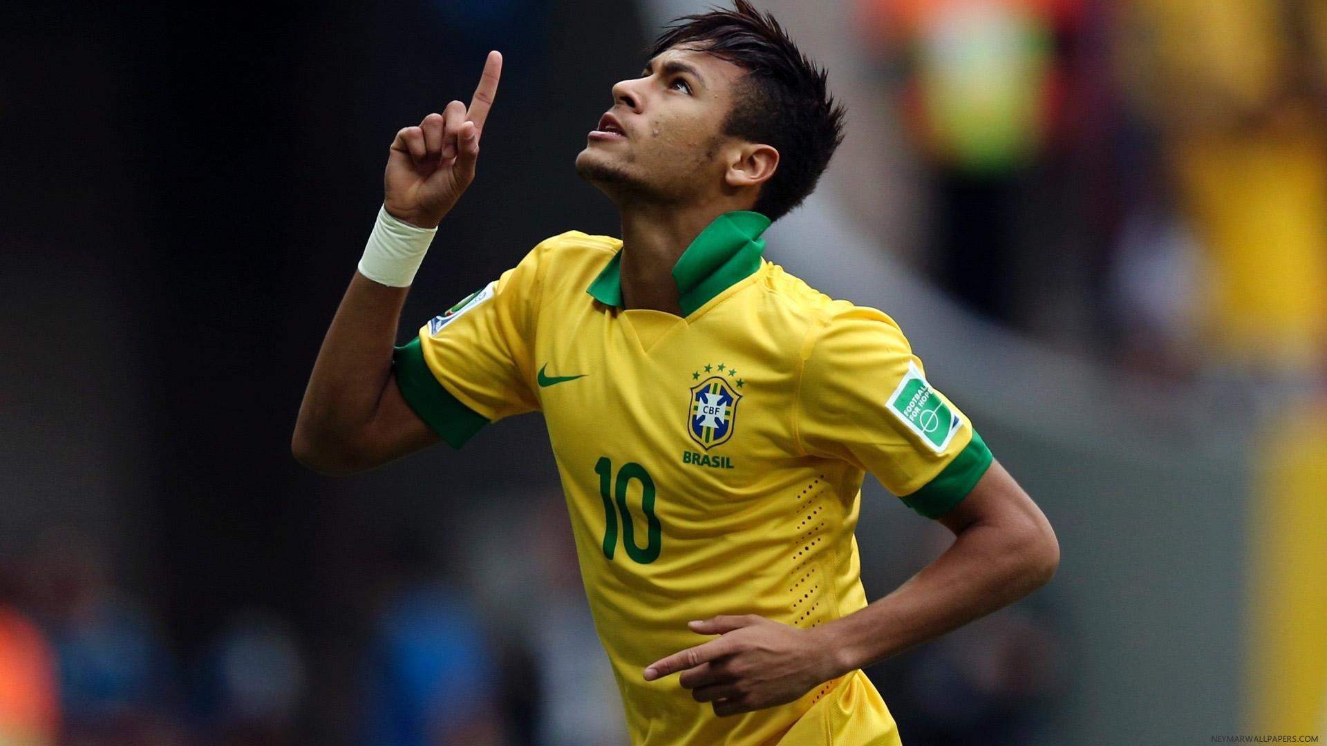 Neymar in Brazil yellow jersey wallpaper
