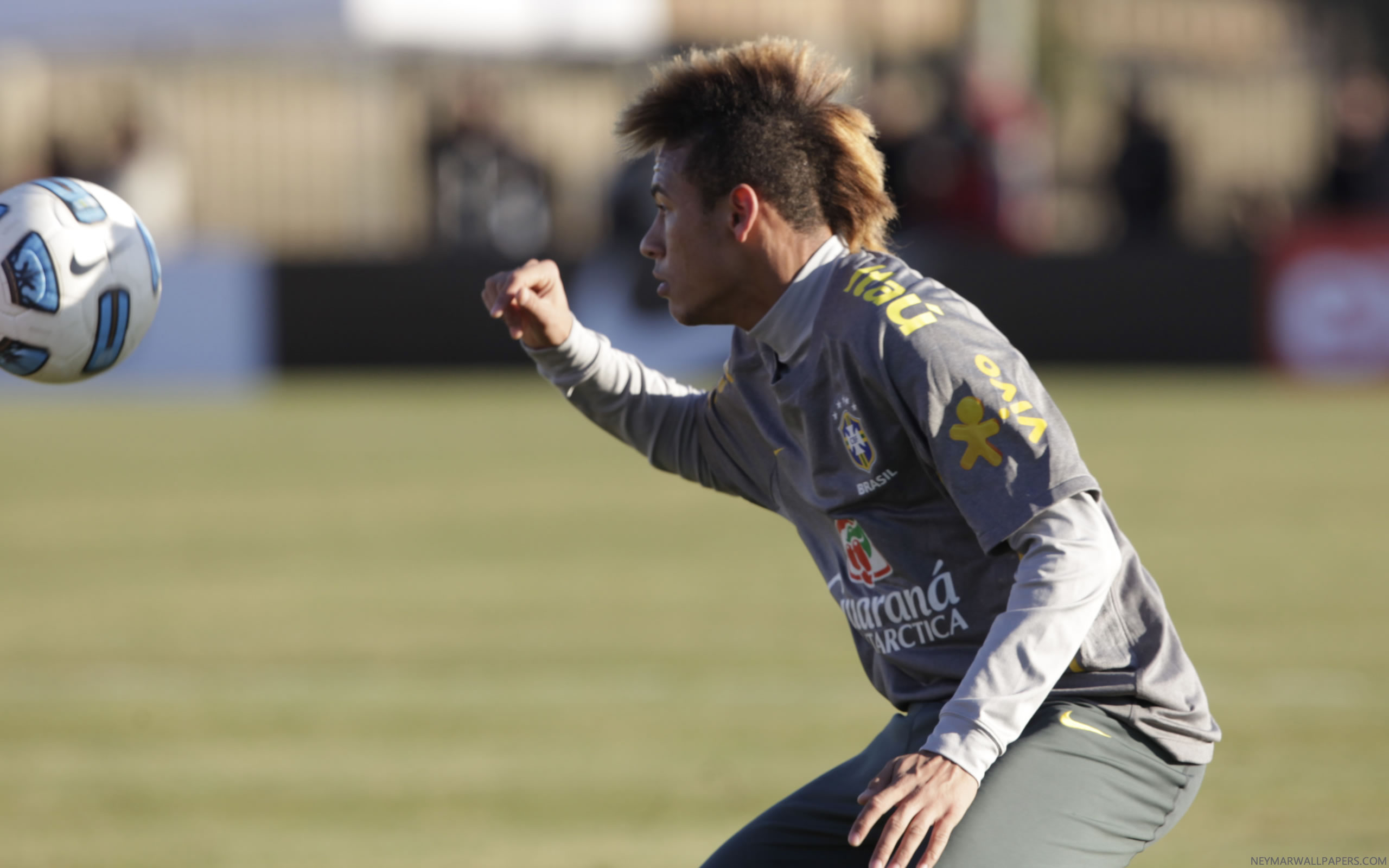 Neymar in Santos training gear wallpaper
