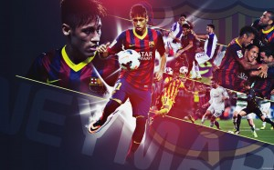 Neymar in action wallpaper