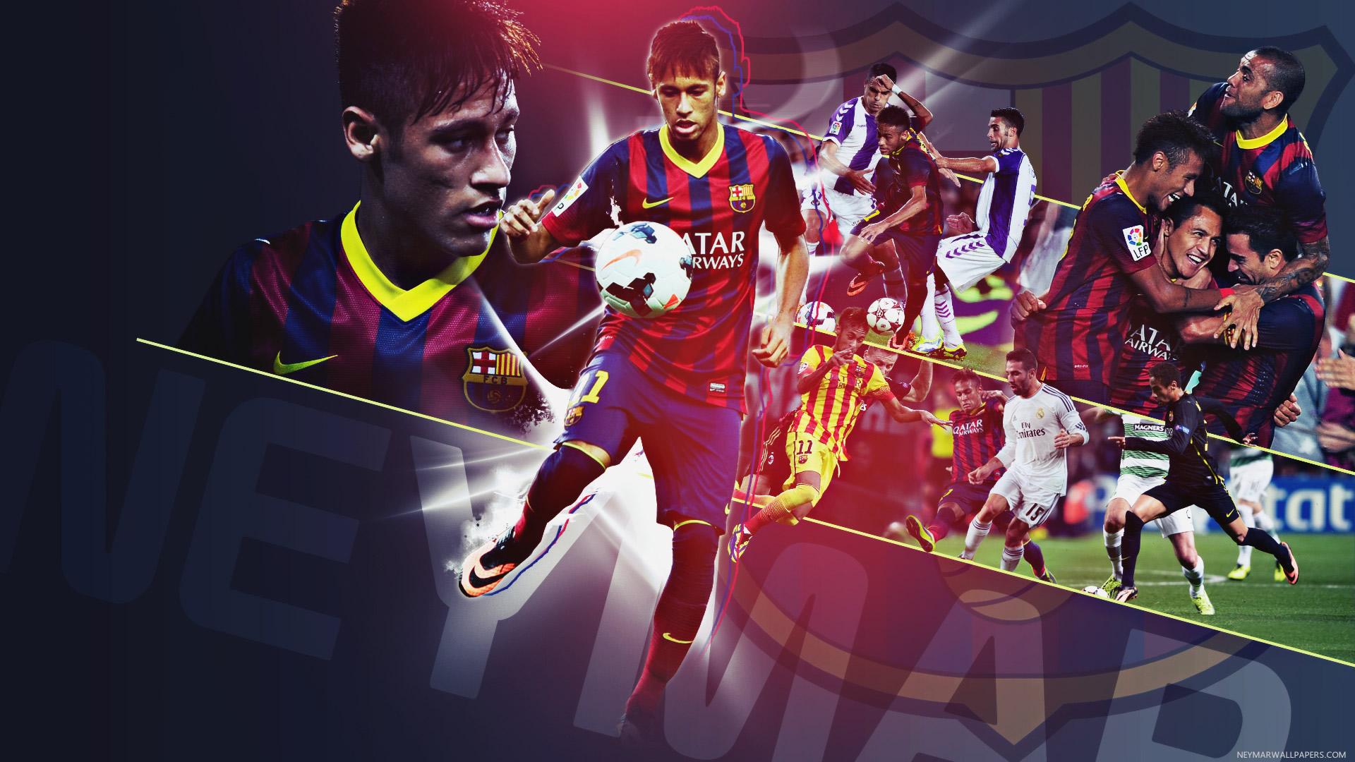Neymar in action wallpaper