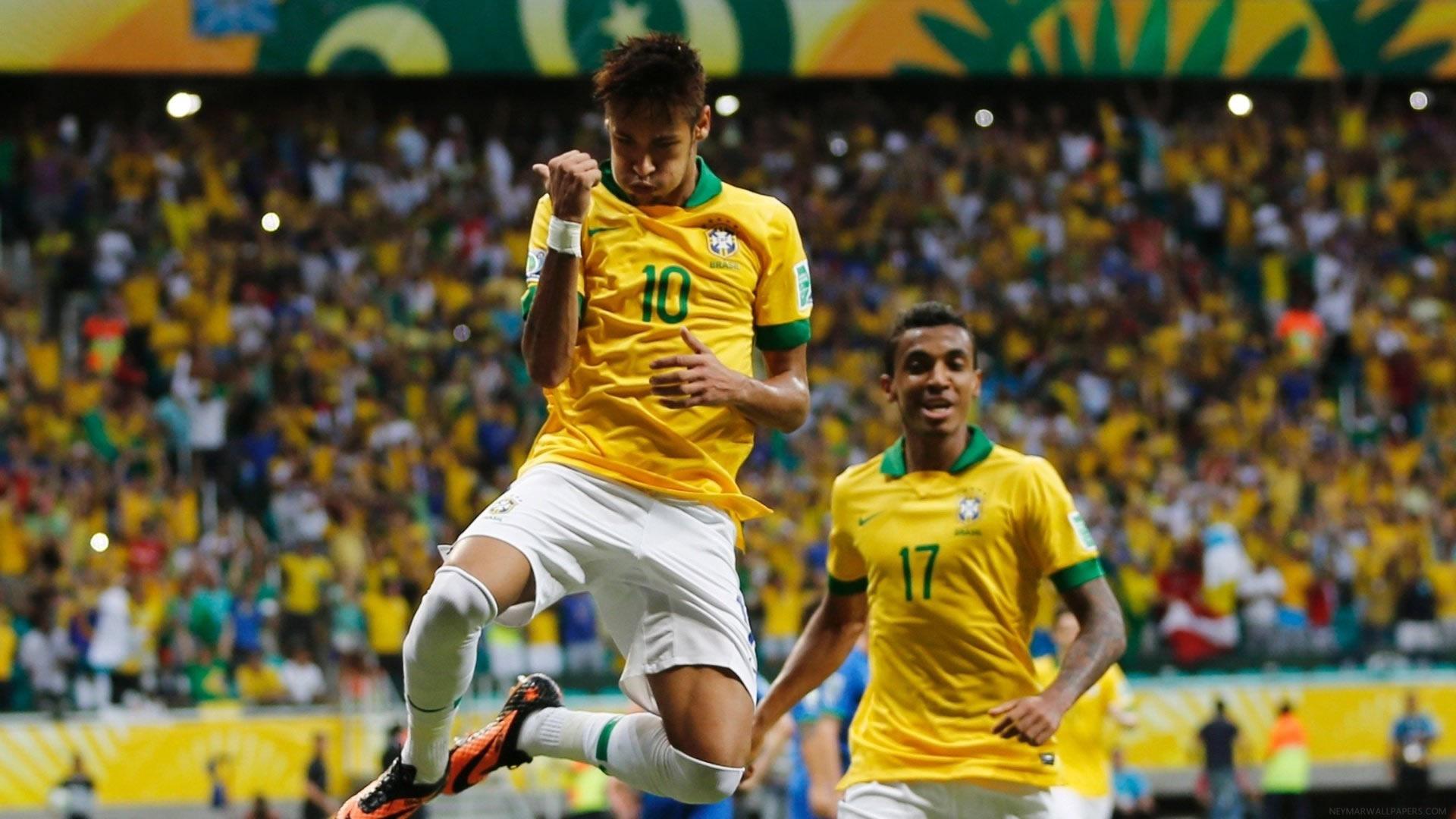 Neymar in air wallpaper