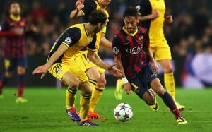 Neymar in match wallpaper
