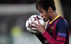 Neymar kissing ball wallpaper