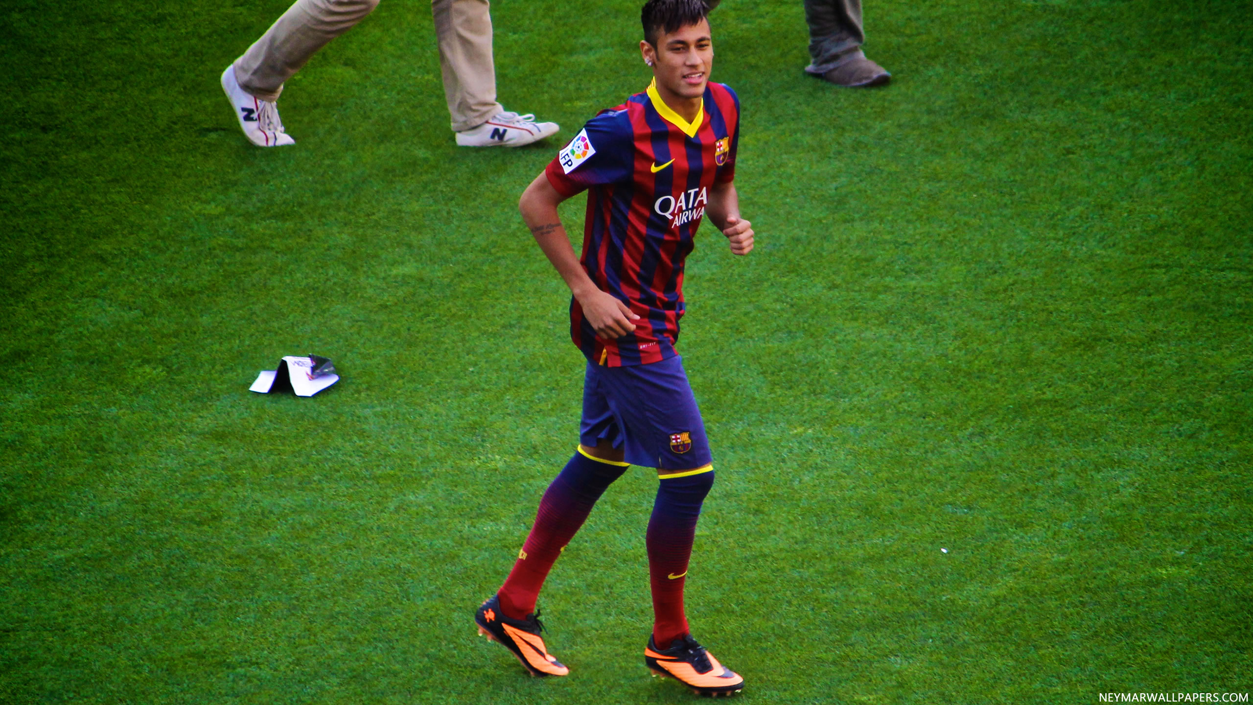 Neymar on football field