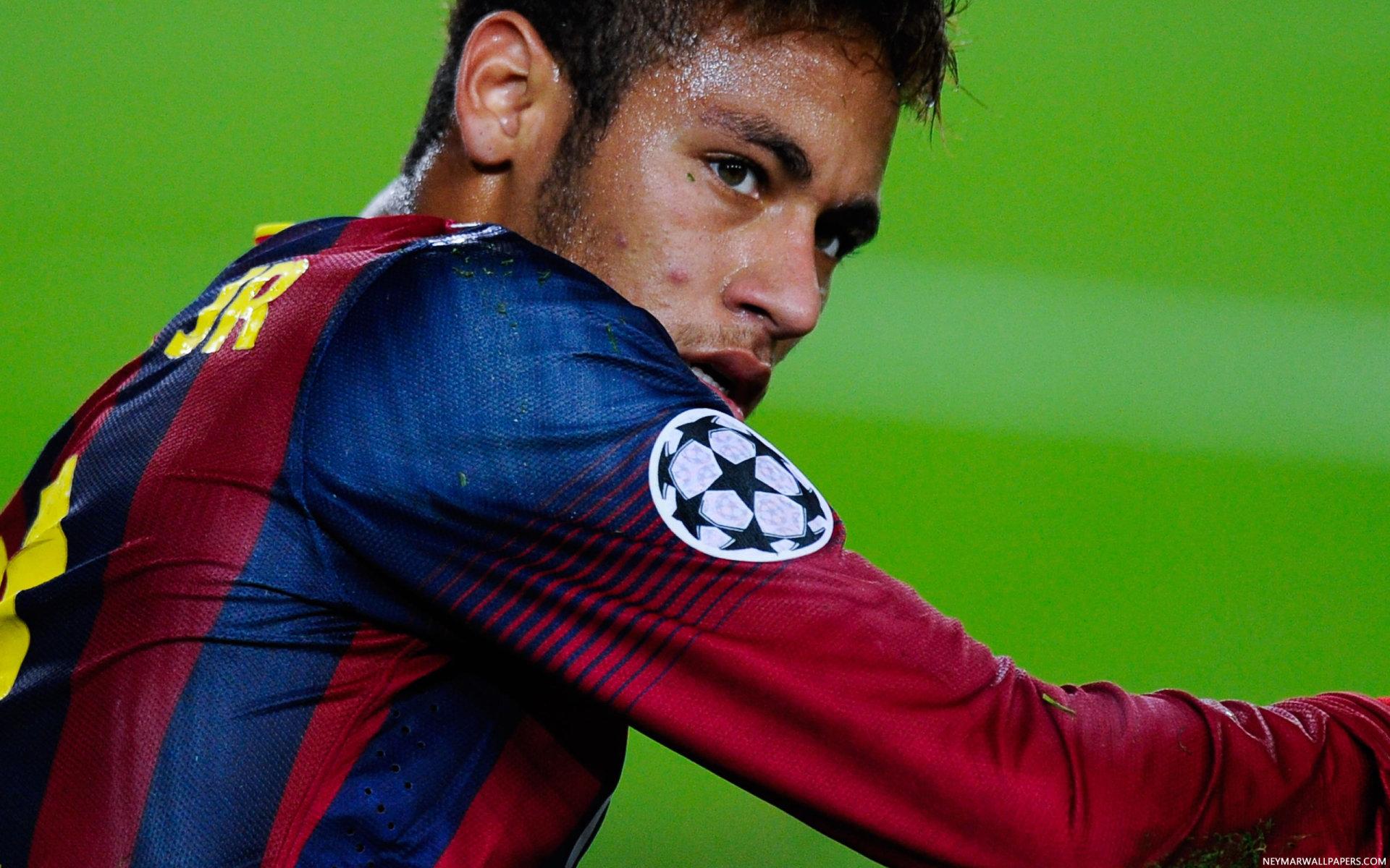 Neymar on grass Barcelona wallpaper - Neymar Wallpapers