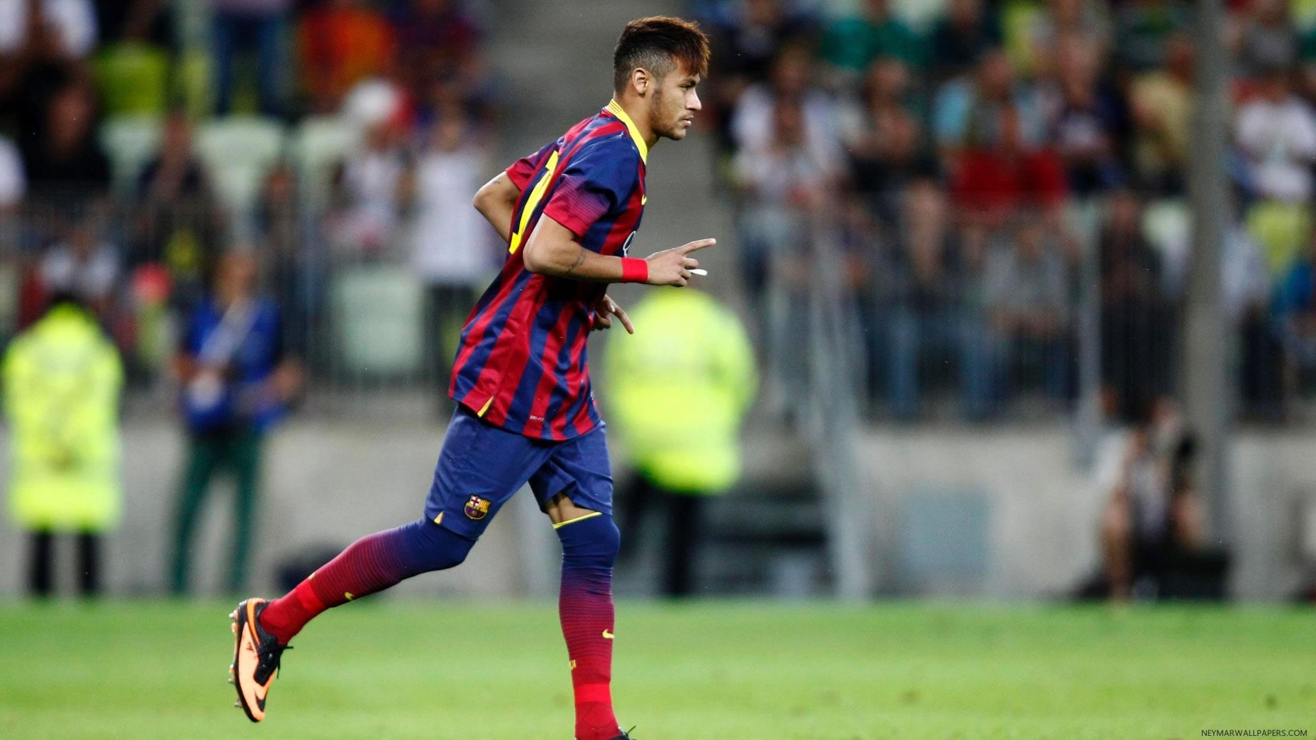 Neymar running wallpaper