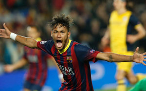 Neymar screaming Barcelona 2015 wallpaper