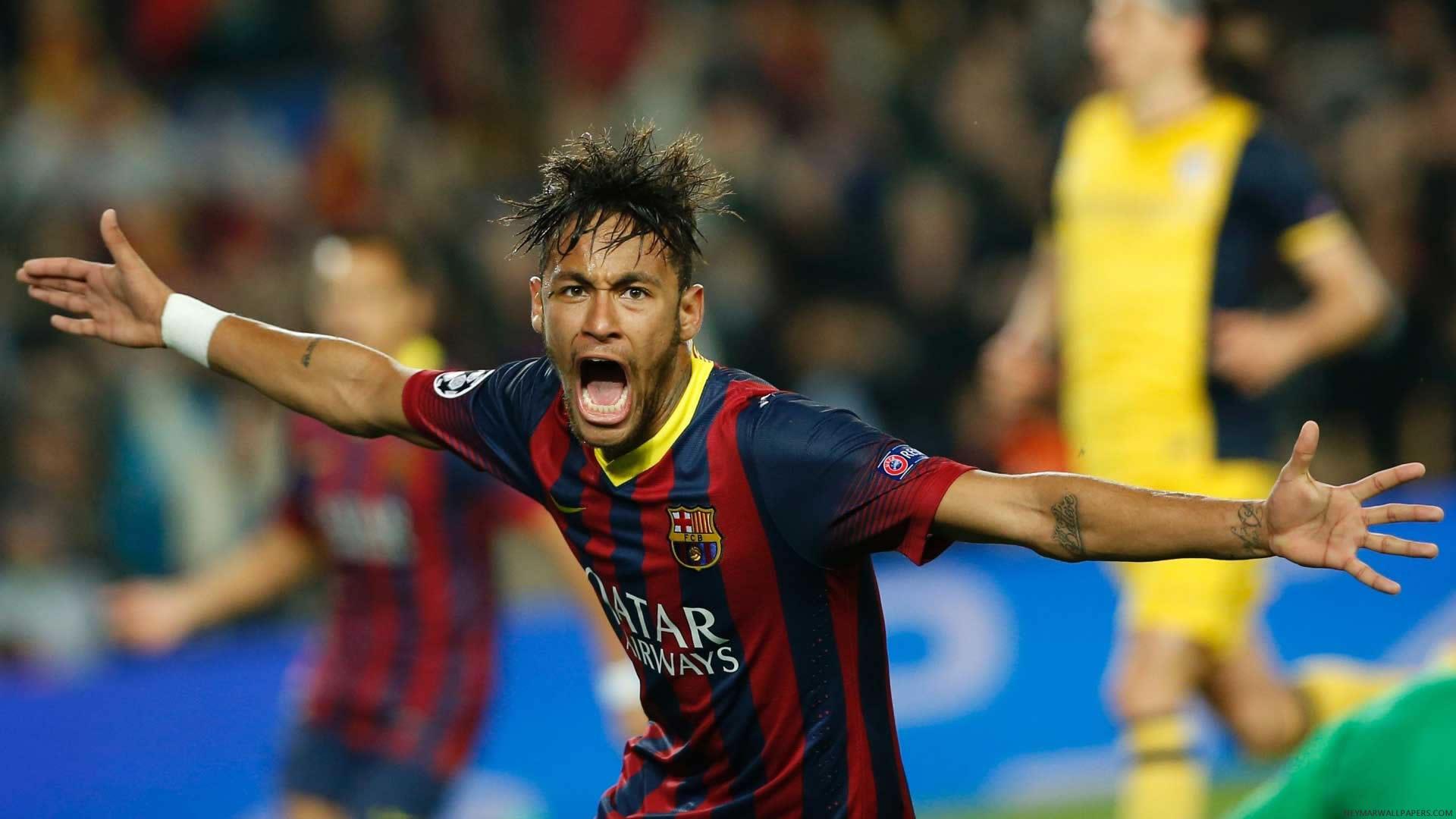 Neymar screaming Barcelona 2015 wallpaper