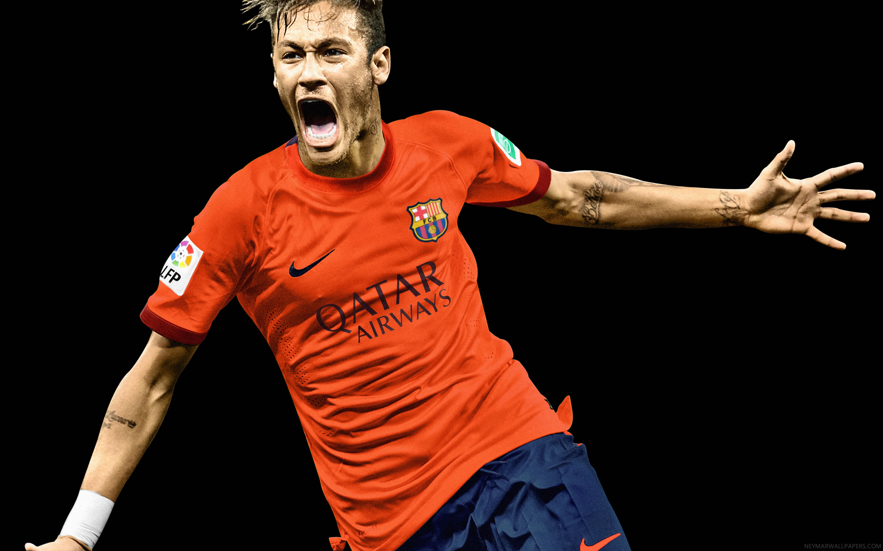 Wallpaper iphone neymar - Neymar Screaming Wallpaper 2015
