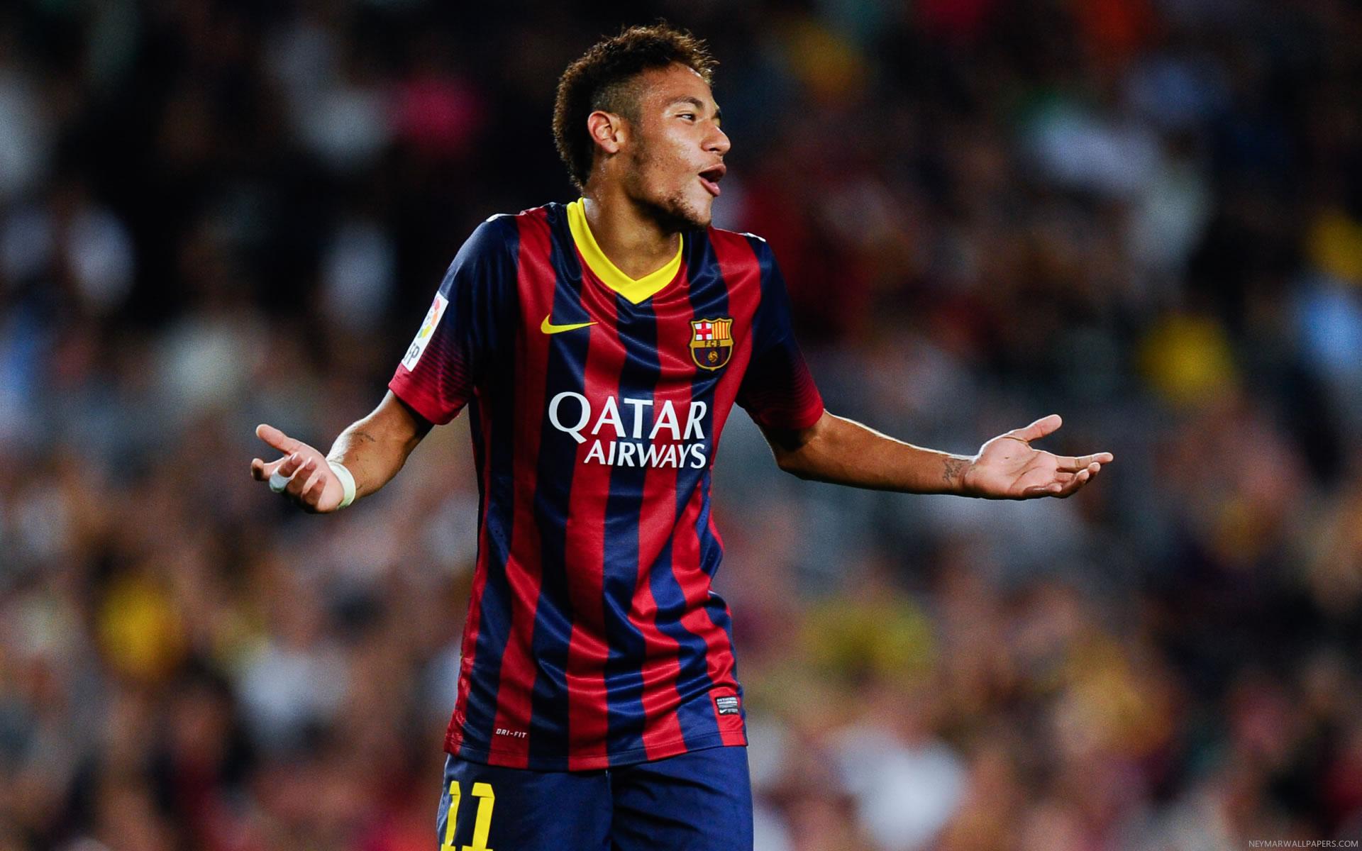Neymar shrugs wallpaper