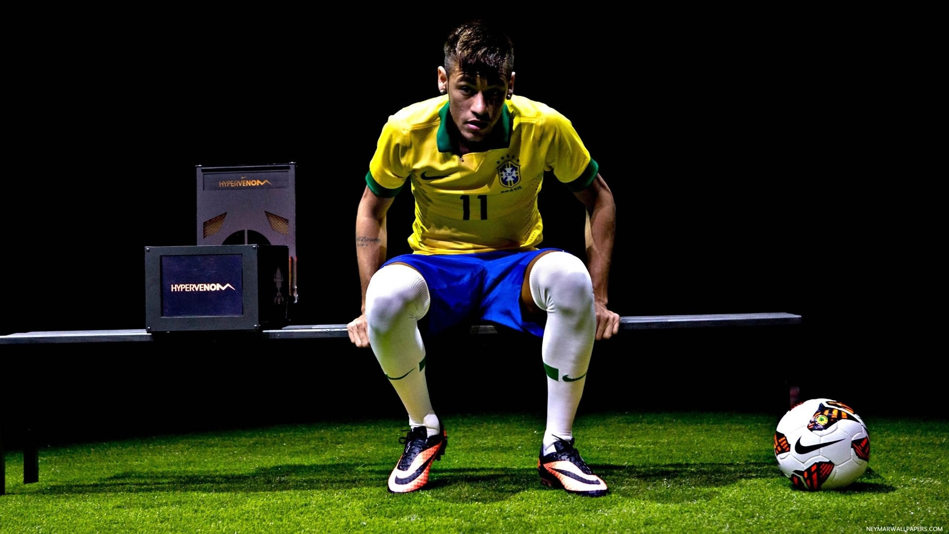 Neymar sitting wallpaper
