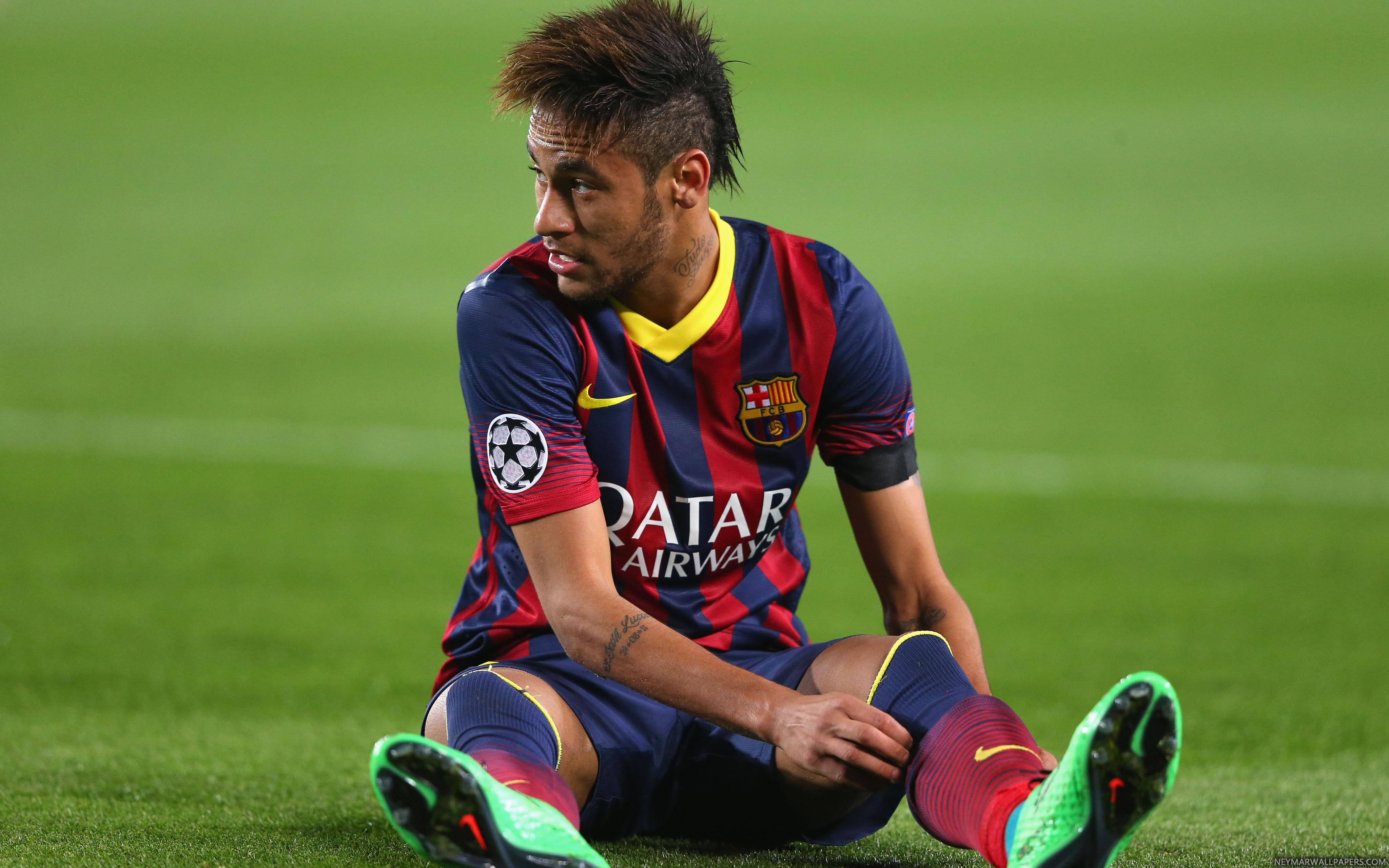 Neymar sitting wallpaper