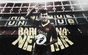 Neymar waving wallpaper (3)