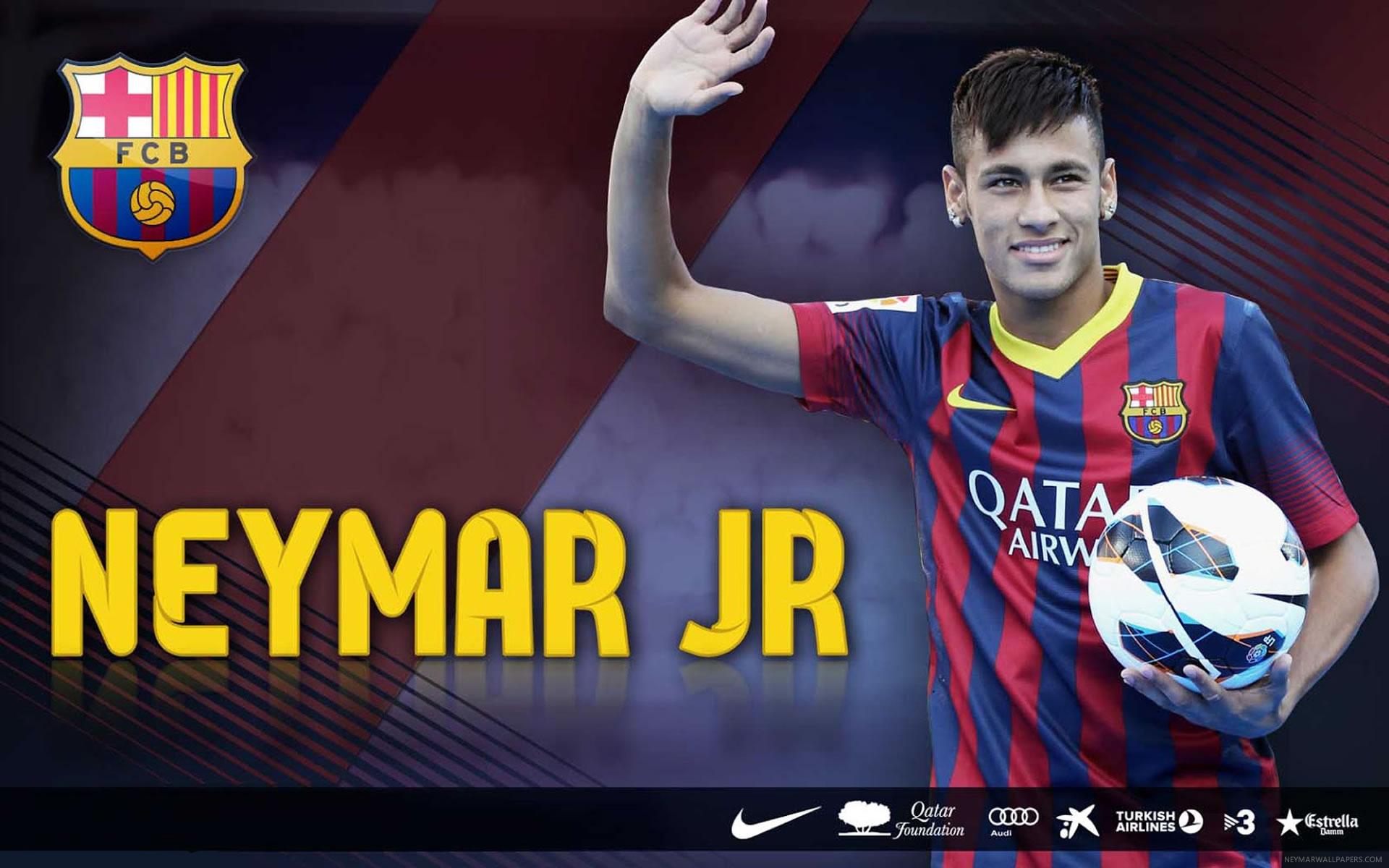 Neymar waving wallpaper