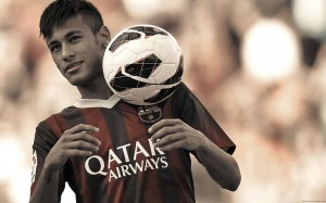 Neymar with ball wallpaper (2)