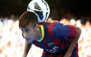 Neymar with ball wallpaper (3)