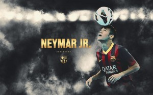 Neymar with ball wallpaper