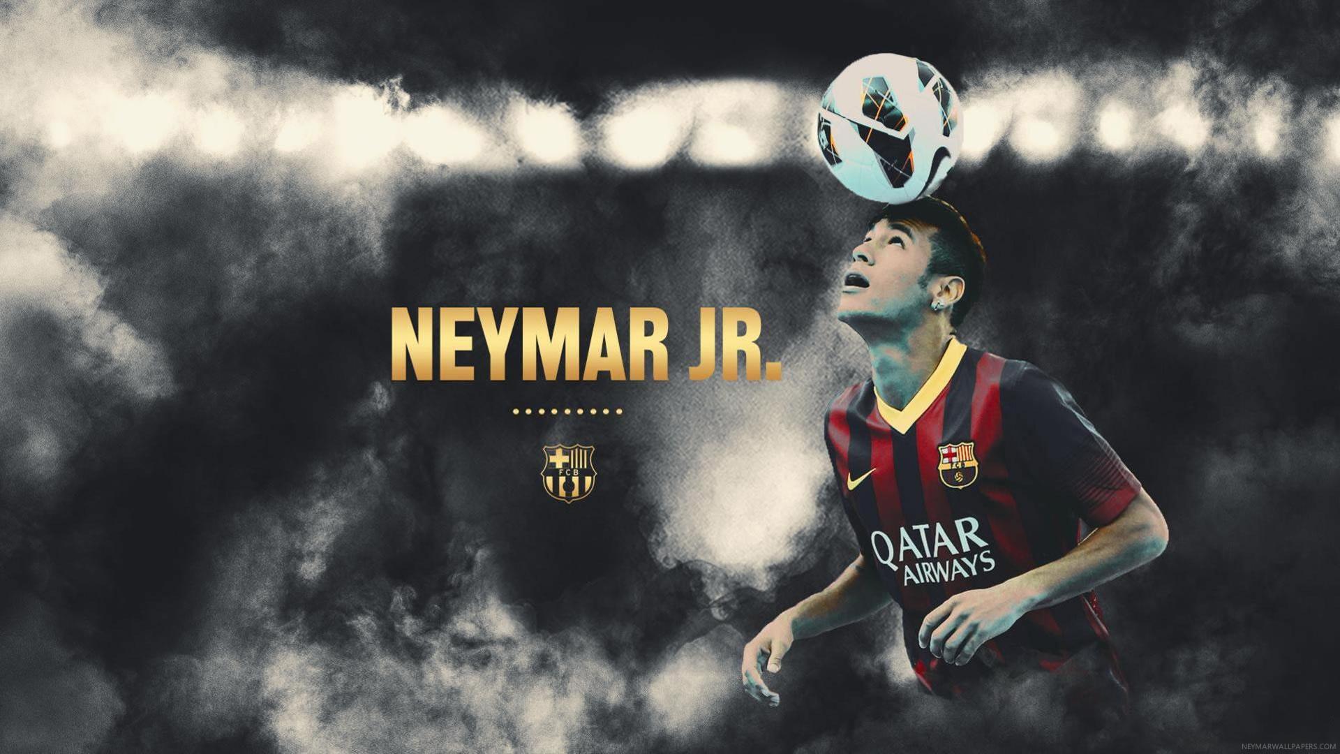 Neymar with ball wallpaper