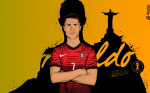 CR7 World Cup 2014 wallpaper by Drifter765