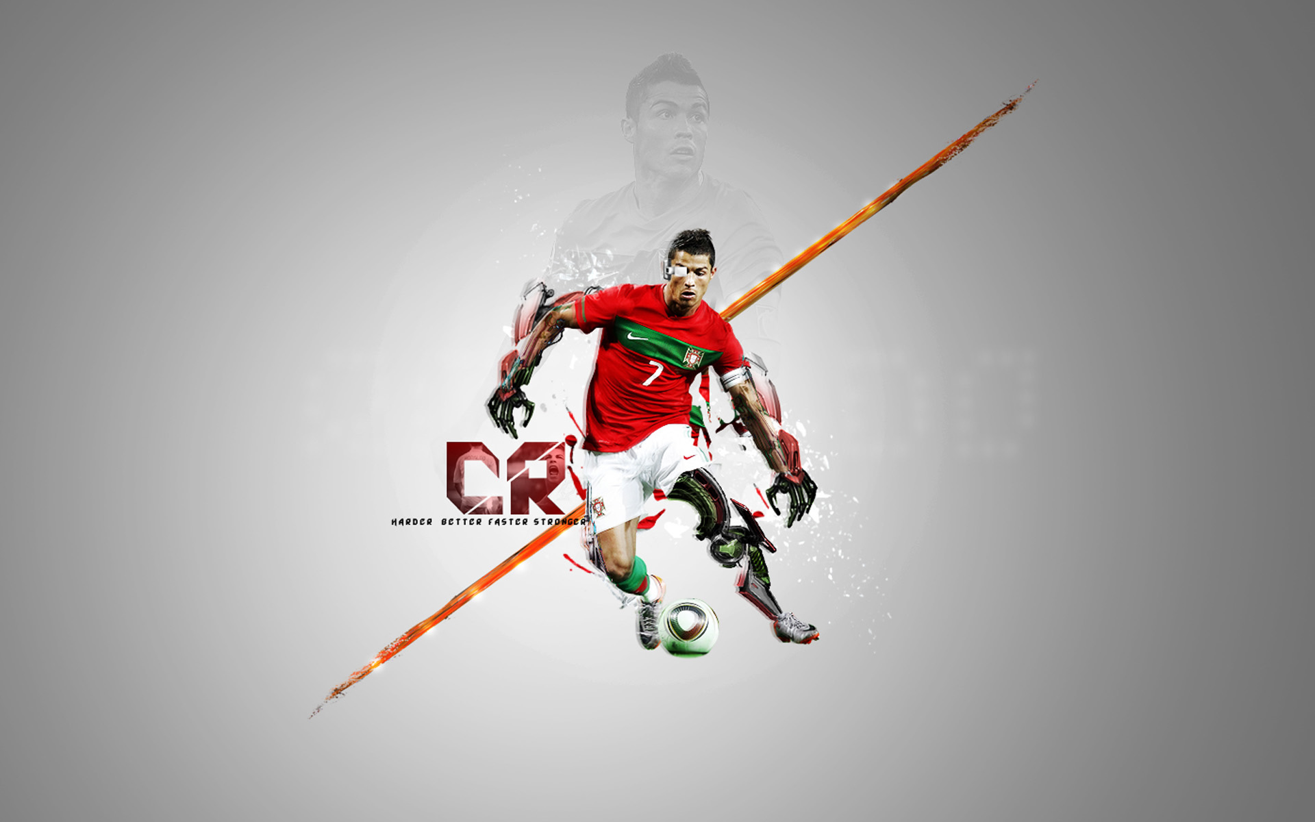 CR7 harder better faster stronger wallpaper