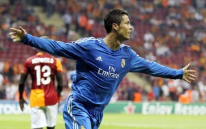 CR7 running with arms wide wallpaper