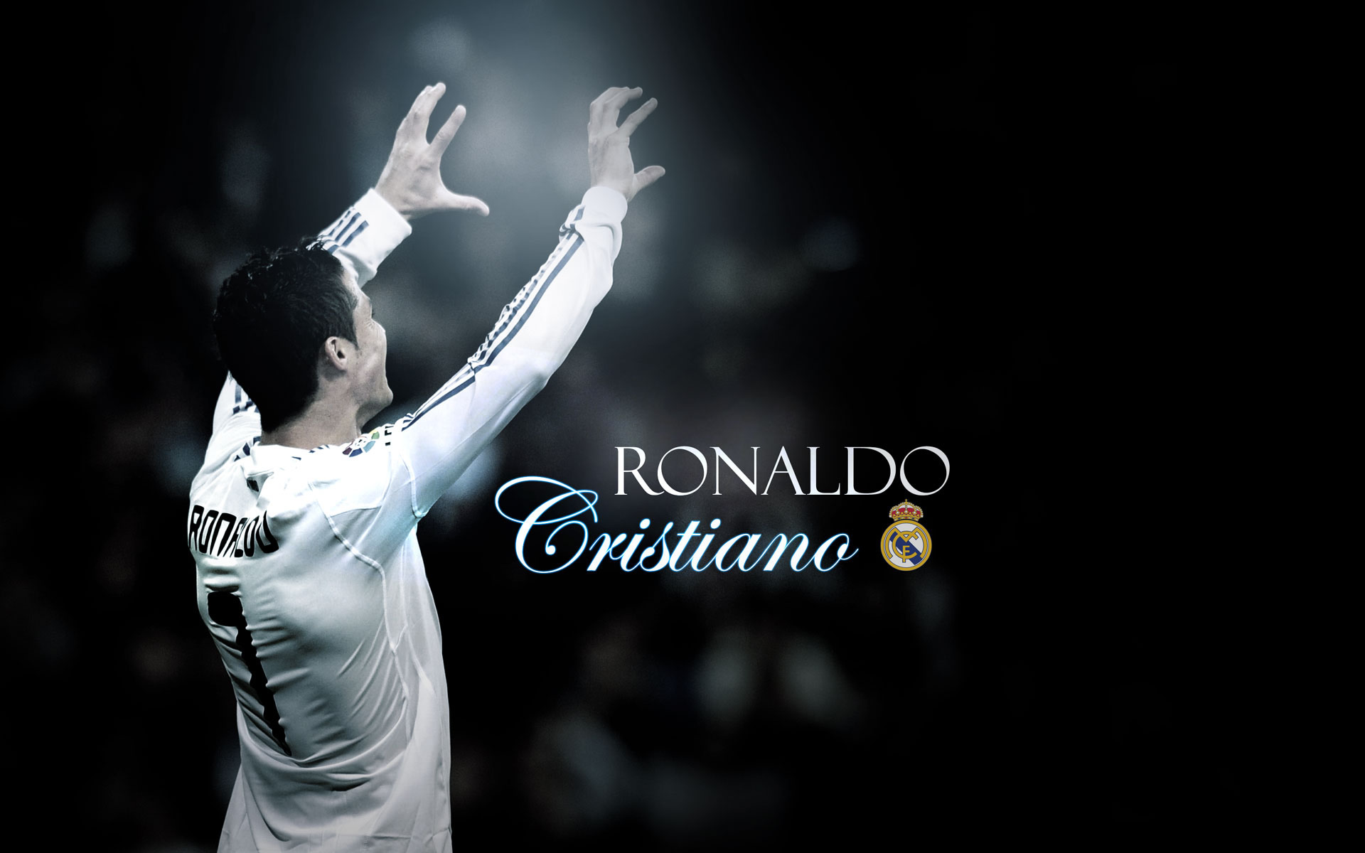 Cristiano Ronaldo arms up wallpaper
