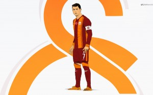 Cristiano Ronaldo 2015 Galatasaray kit wallpaper by Drifter765