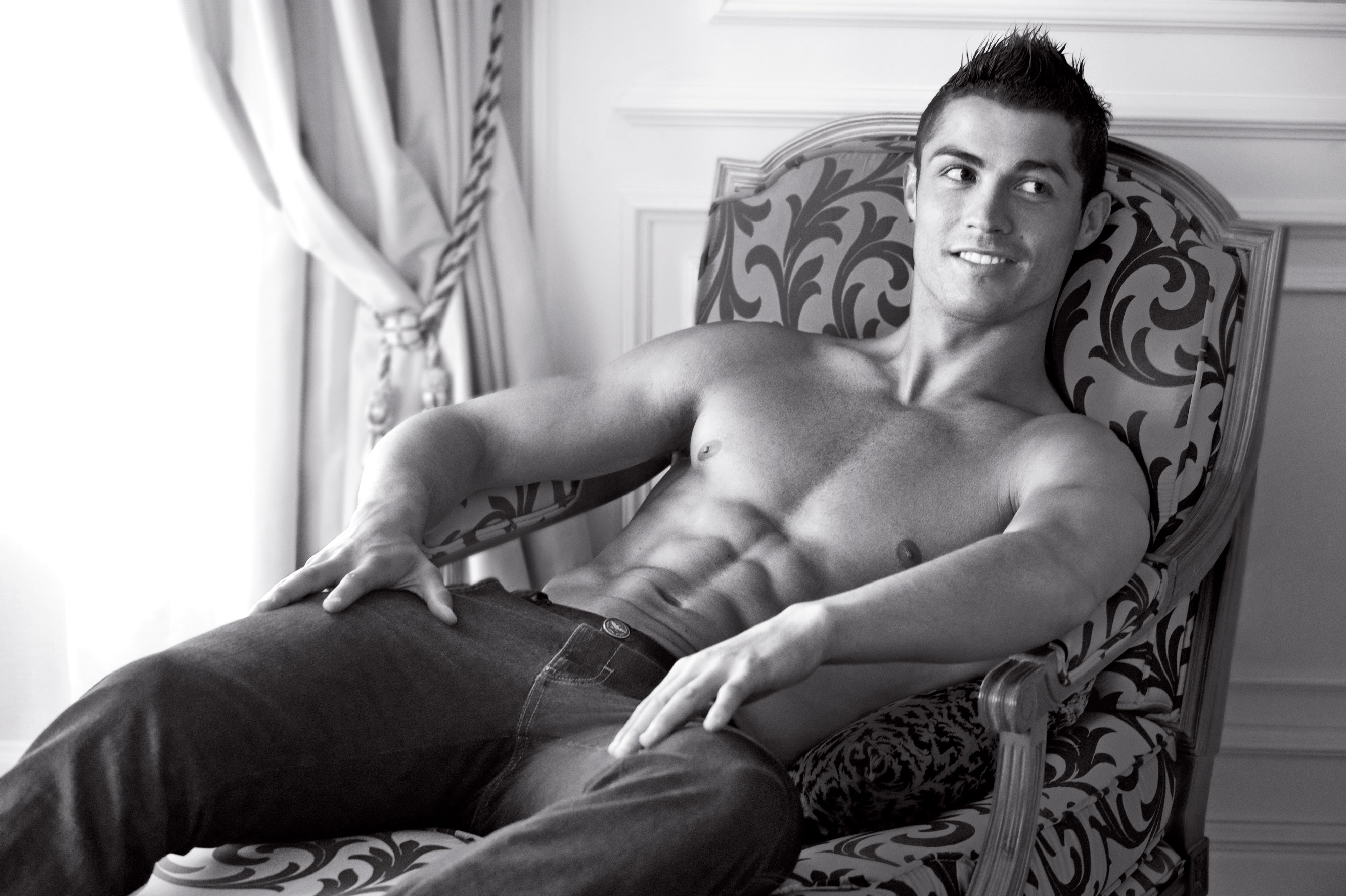 Cristiano Ronaldo Armani shirtless wallpaper
