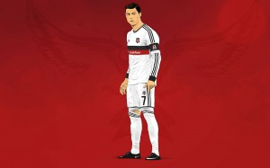 Cristiano Ronaldo Besiktas 2015 kit wallpaper